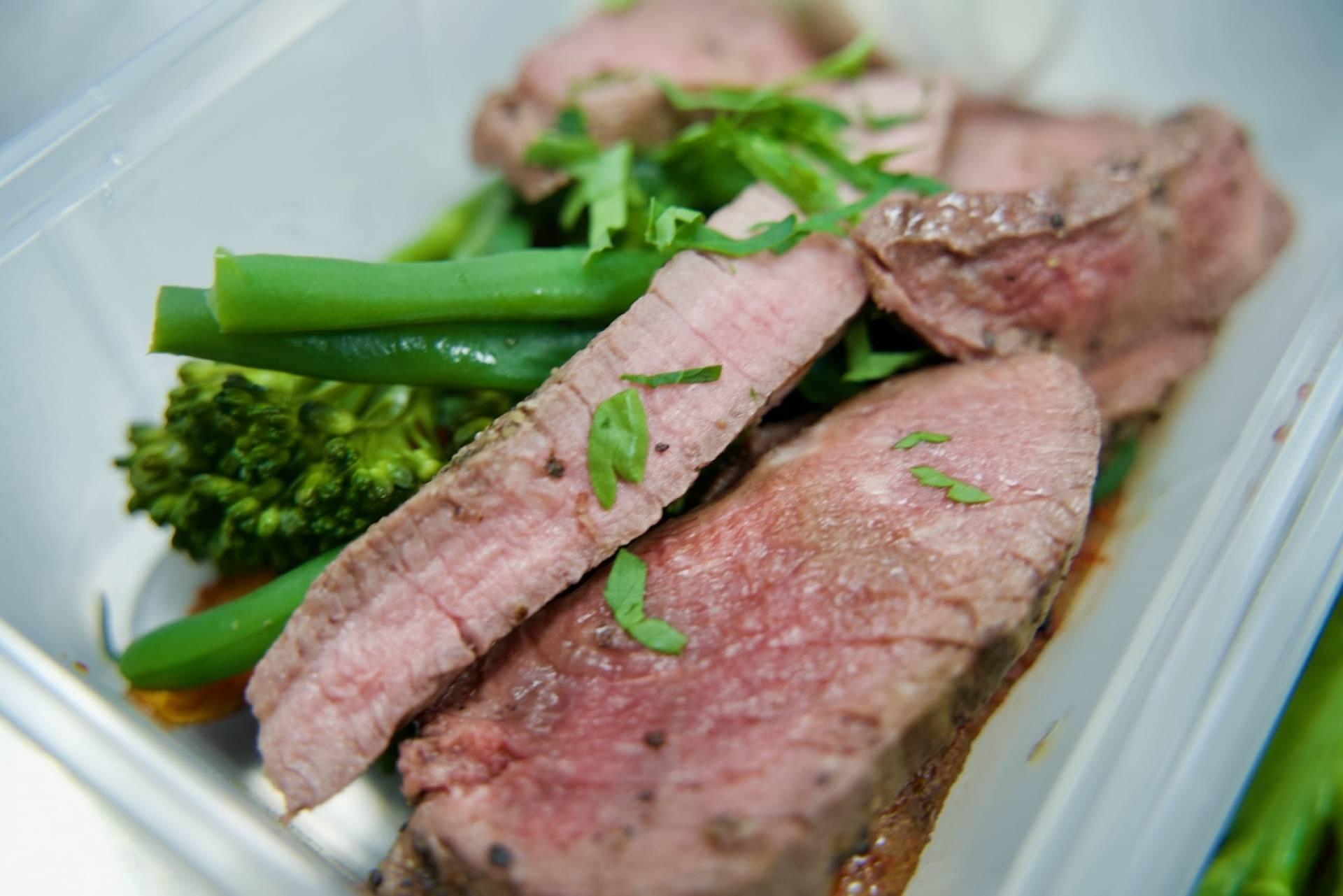 Steak Strips with Tenderstem & Wedges