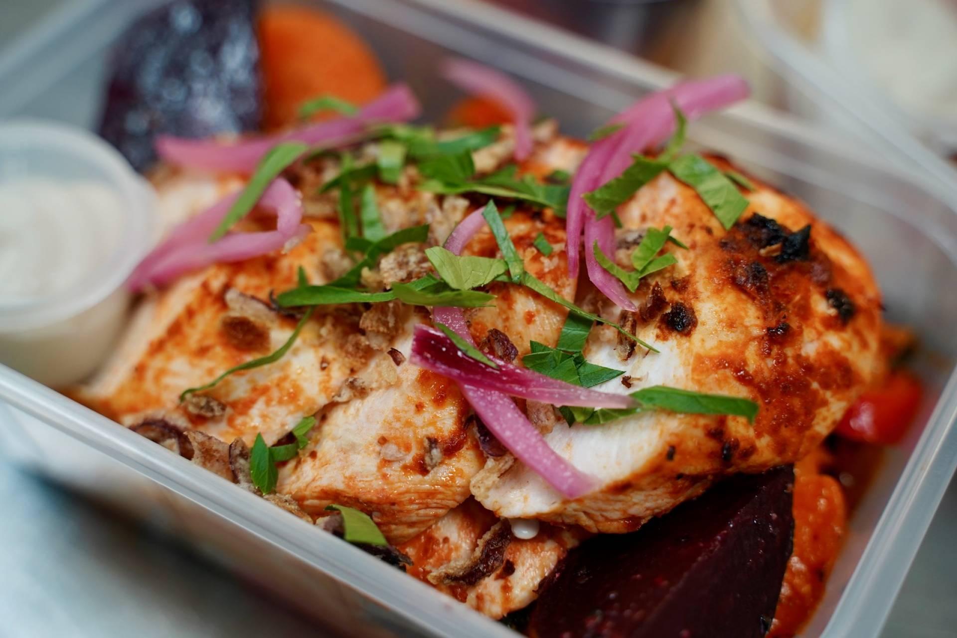 Harissa Chicken with Roasted Veg