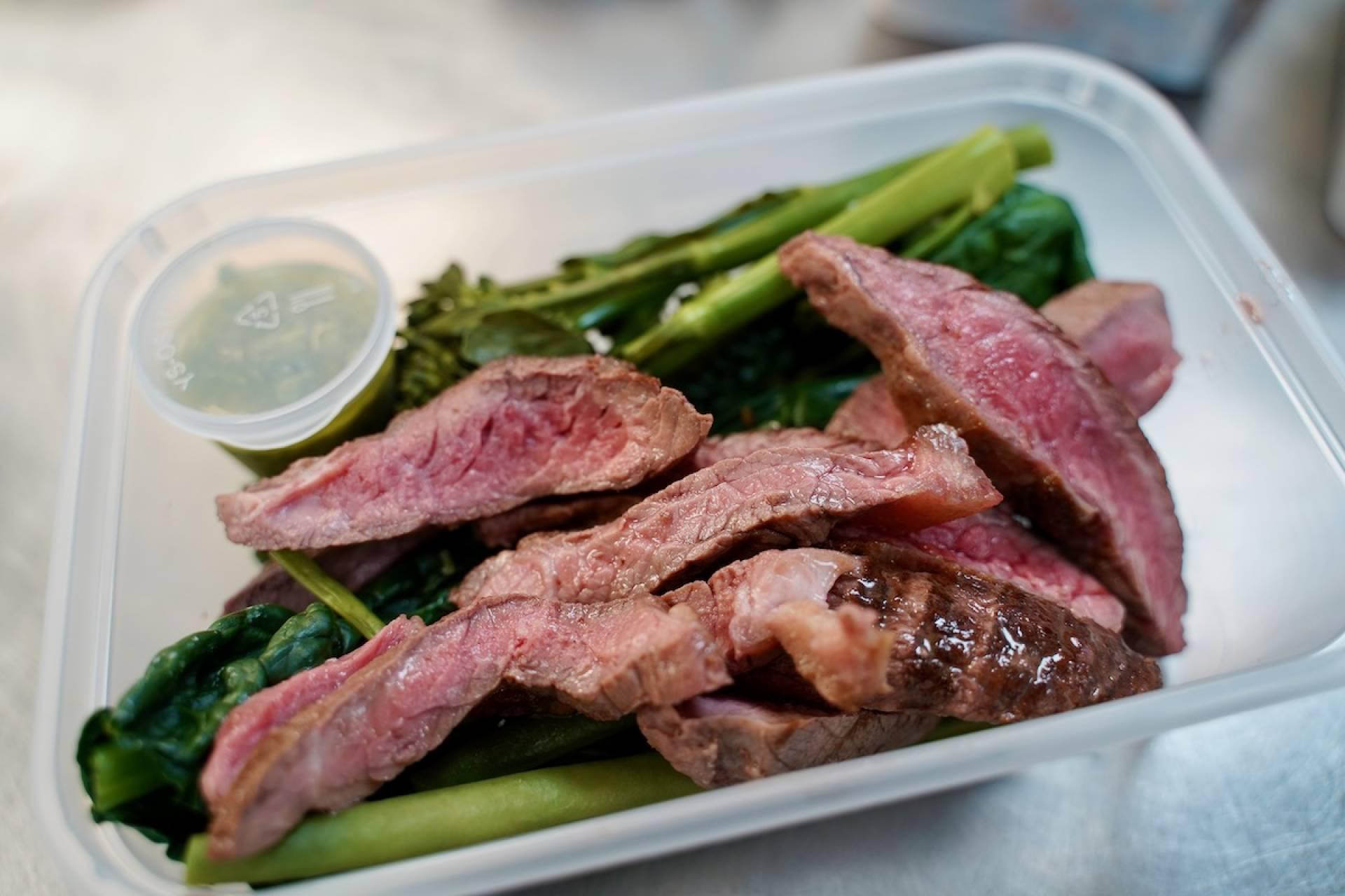 Steak Strips with Green Veg