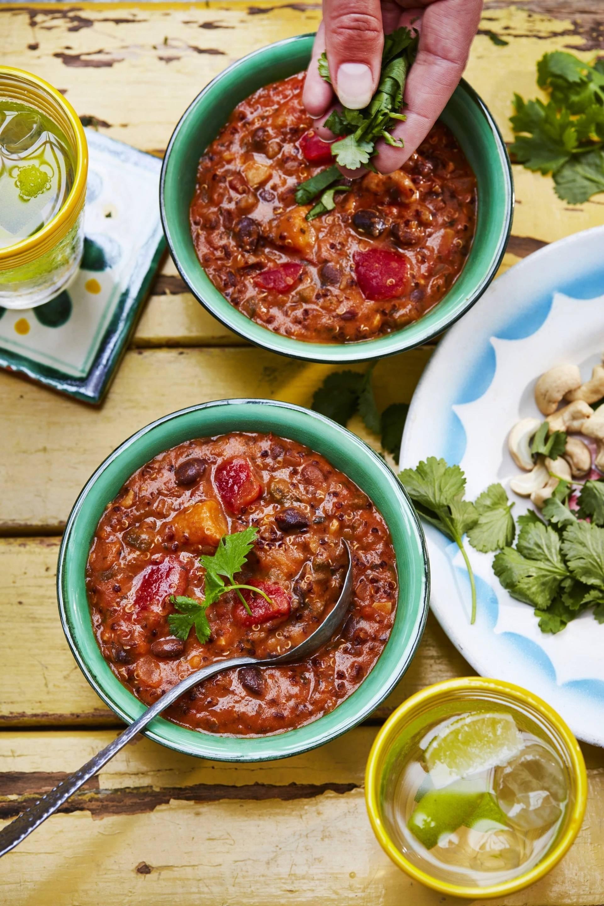 Tomato, Black Bean with Cashews & Quinoa