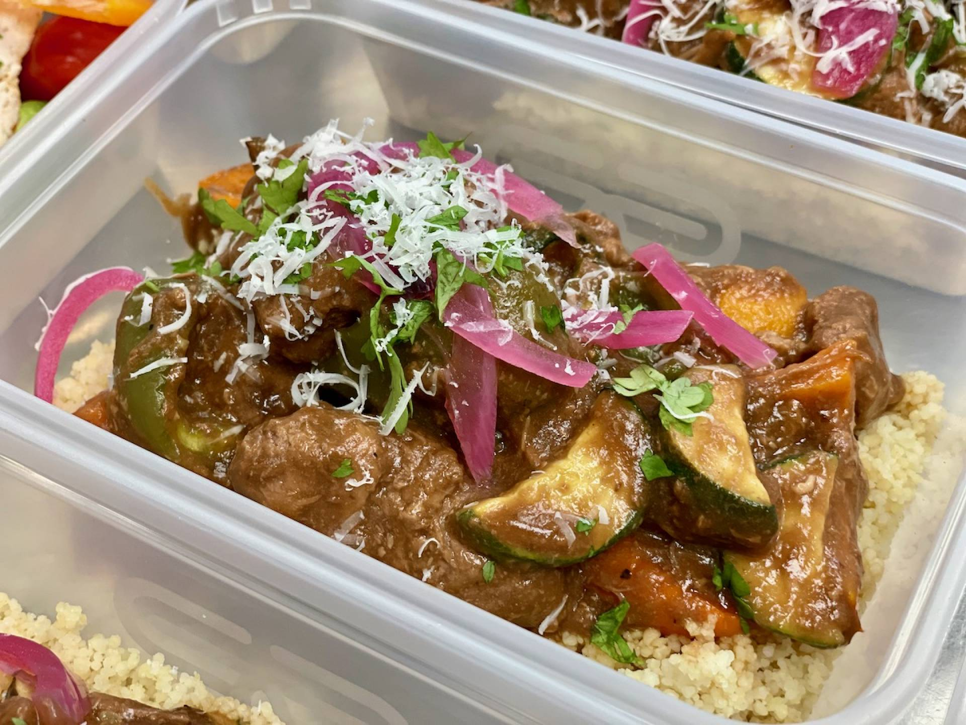 Summer Beef Casserole with Cous Cous