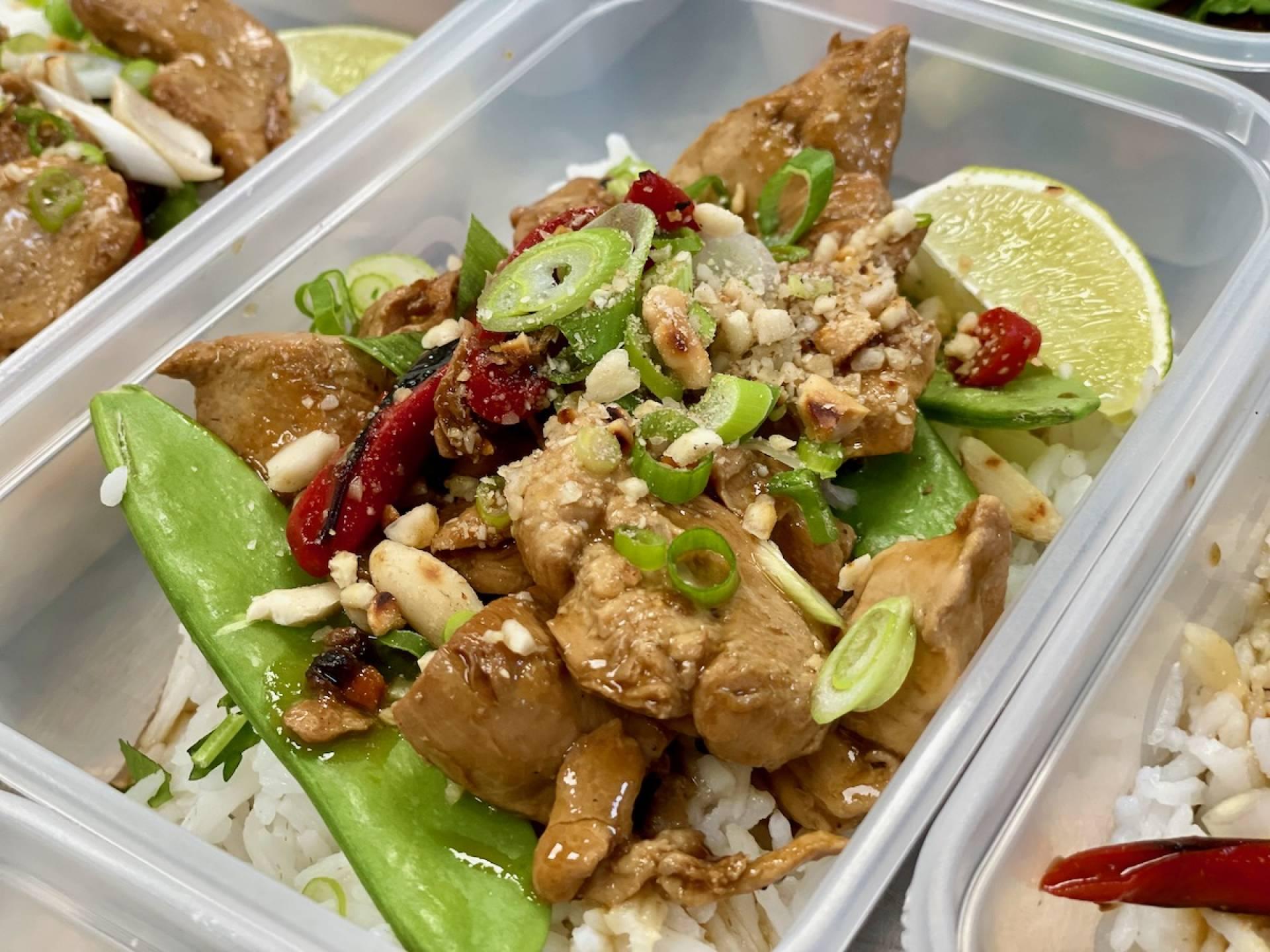 Gunpowder Chicken with Thai Rice