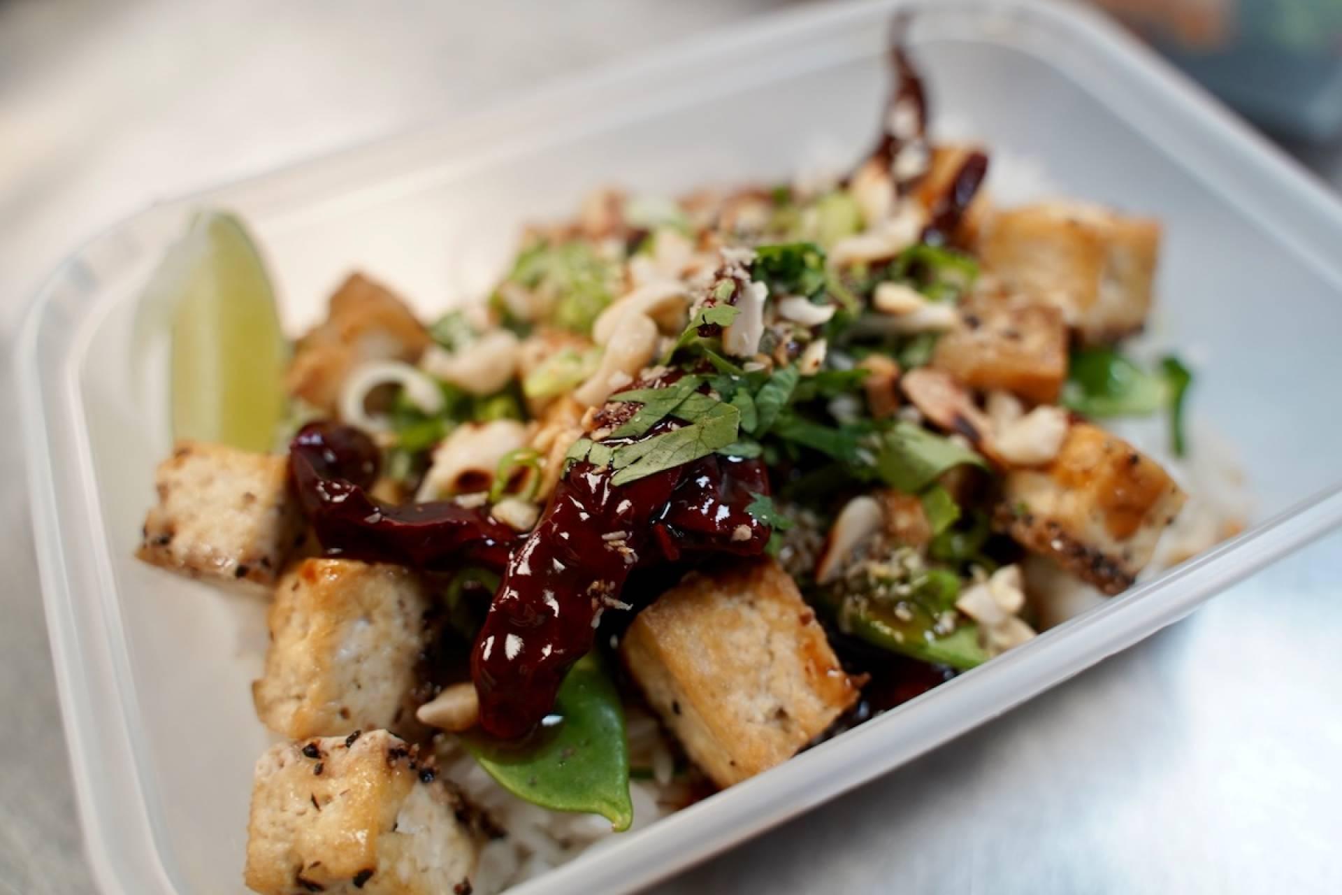 Gunpowder Tofu with Thai Rice