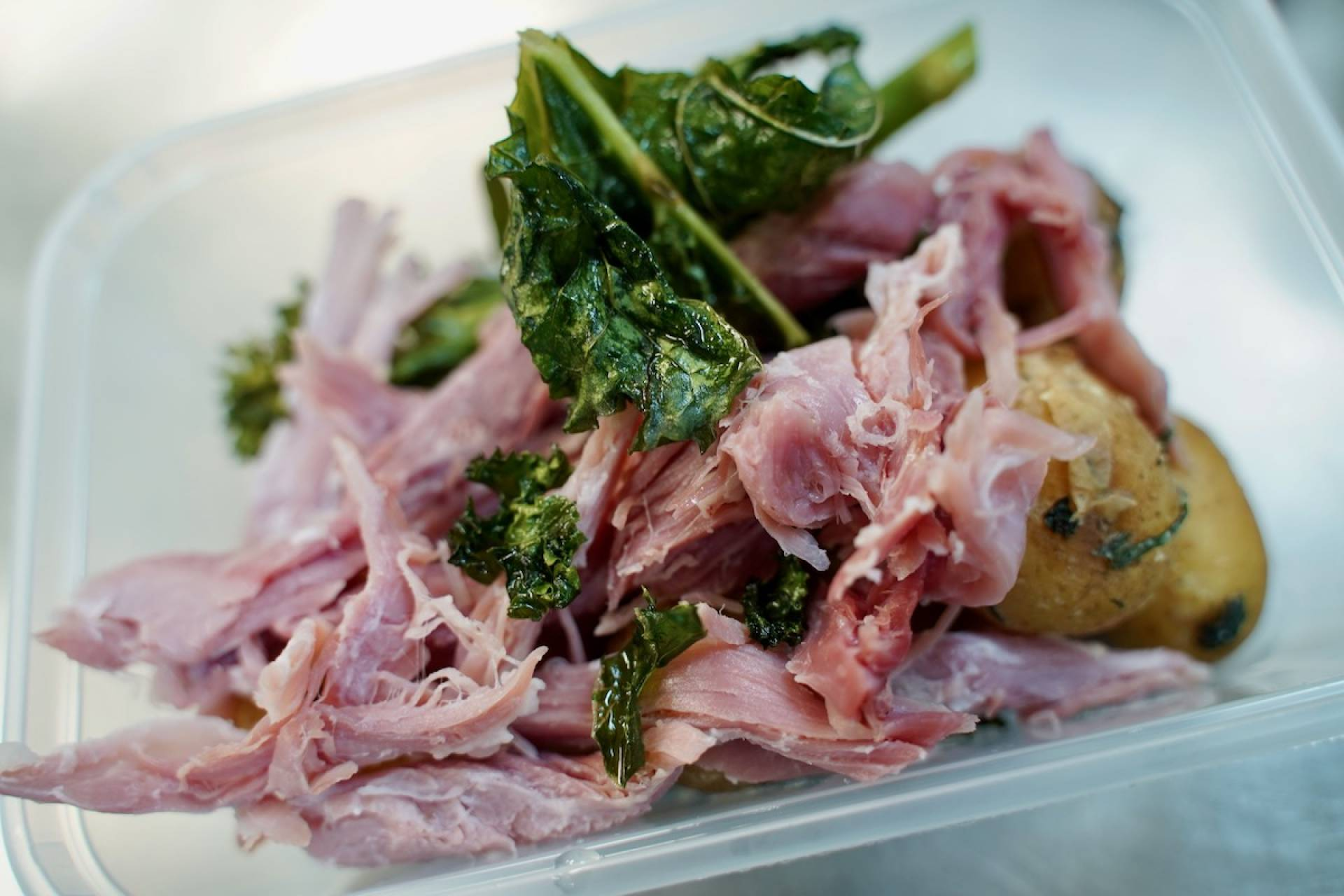 Pulled Ham Hock & Baby New Potatoes